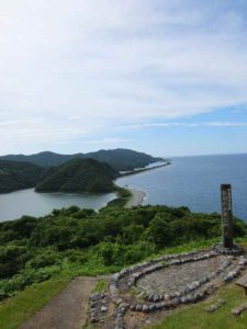 甑島列島観光ツアー 長目の浜展望所
